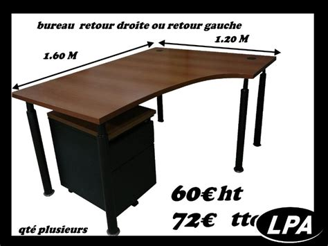 bureau compact plus caisson bureau mobilier de bureau lpa