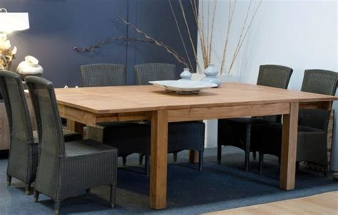 achat table 12 personnes carr 233 e en teck 140x140 2 rallonges int 233 gr 233 es walk
