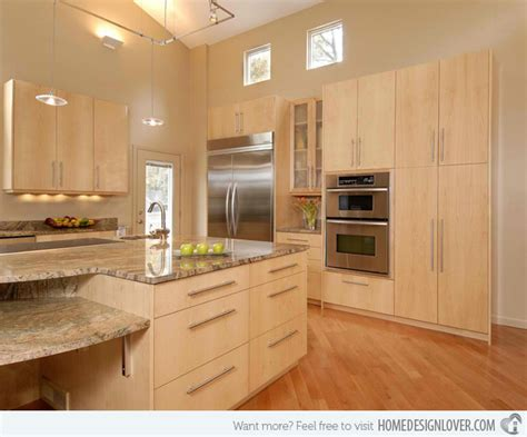15 Contemporary Wooden Kitchen Cabinets  Decoration For House