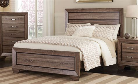 Kauffman Washed Taupe Queen Panel Bed From Coaster Best Vinyl Tile Flooring For Kitchen Countertops Colored Painting Laminate Black And White Floor Can You Paint Open Plans Designs Green