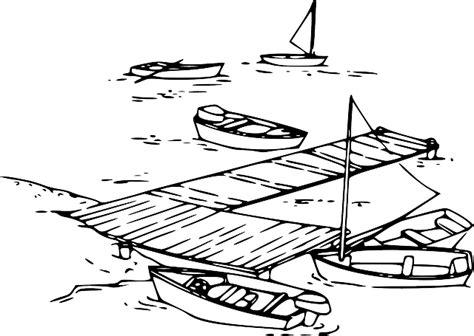 Cartoon Boat Dock by Water Outline Sailing Cartoon Boat Dock Ocean