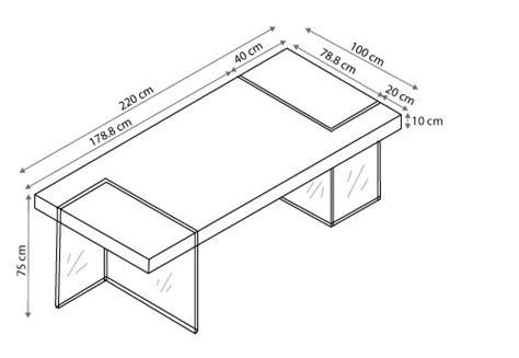 table rectangulaire avec pied en verre crystalline mobilier moss