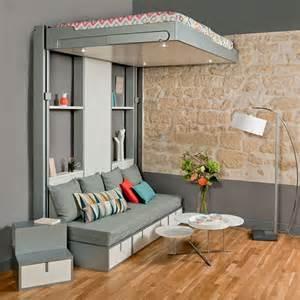 lits escamotables et lits mezzanines meubles gain de place espace loggia new home