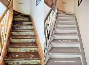 Holz Treppenstufen Erneuern : treppenrenovierung arnstadt vinyl grau flur pinterest haus treppe und treppenhaus ~ Markanthonyermac.com Haus und Dekorationen