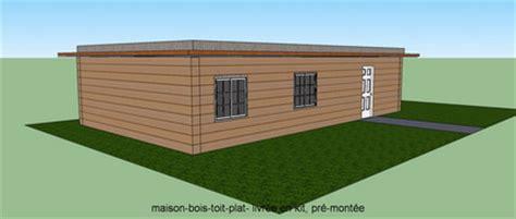 maison bois en kit toit plat