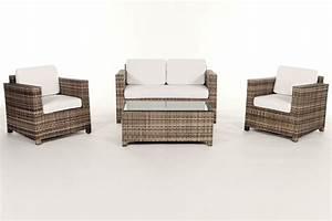 Gartenmöbel Rattan Holz : rattan gartenm bel lounge sitzgruppe luxury natural ~ Markanthonyermac.com Haus und Dekorationen