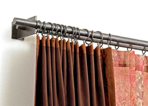 Double Curtain Rod Antique White Iron Curtain Trail Map Teal Color Block Curtains Kirsch Arch Top Rod Navy Blue Modern Luxury Made To Measure Uk Rail Brackets White Panels With Trim Farmhouse Style For Bedroom