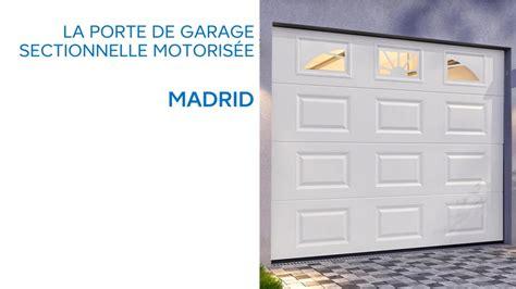 porte de garage sectionnelle avec hublots madrid 645776 castorama