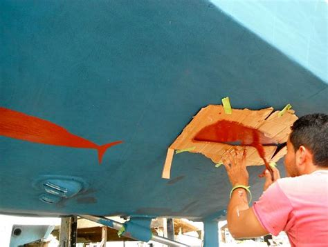 Wet Sanding Boat Bottom Paint by My Version Of The Mona Lisa Boat Design Forums
