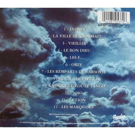 les marquises de jacques brel cd chez flaming ref 105197223