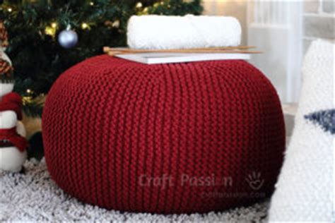 poufs ottomans hassocks to knit 12 free patterns grandmother s pattern book
