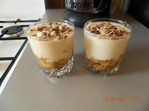recette de verrine fromage blanc et bananes caram 233 lis 233 es