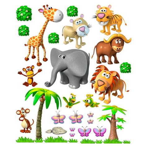 stickers pour enfants animaux de la jungle africaine