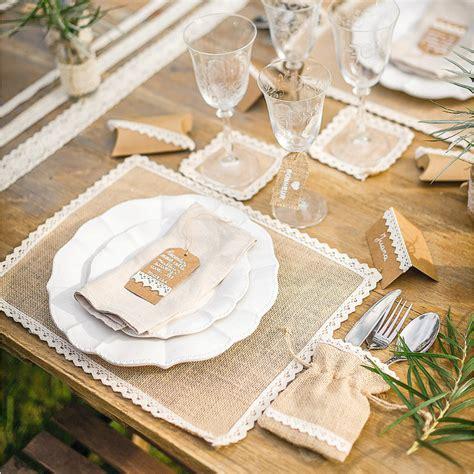 d 233 coration mariage vintage centre de table jute et