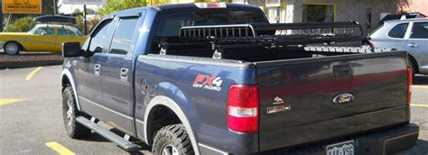 ford f 150 bed rail rack with cargo basket install
