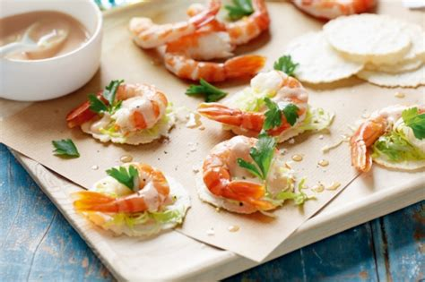 prawn cocktail canapes recipe prawn cocktail and canapes