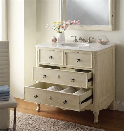 adelina 34 inch vintage bathroom vanity distressed finish