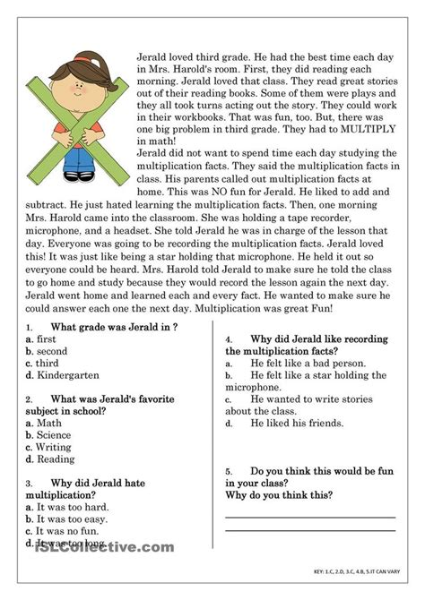 The 25+ Best Reading Worksheets Ideas On Pinterest  Worksheets For Grade 3, 1st Grade Reading