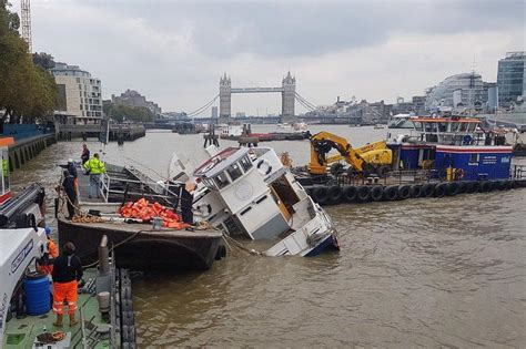 Party Boat Thames Disaster river thames massive rescue operation as party boat