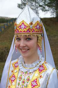 Tatar Beauty in Traditional Clothing of Tatarstan. The ...