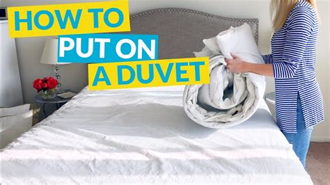 How To Put On A Duvet Cover Youtube