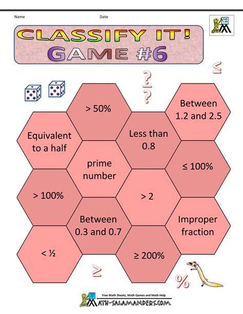 Math Games Worksheets