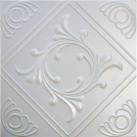 r2w white decorative styrofoam glue up ceiling tiles 20x20 tin look ebay