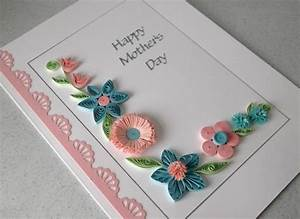 Quilled Mother's day card, handmade, flowers - Folksy
