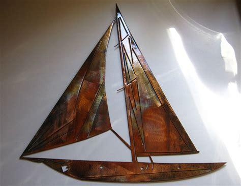 sailboat metal wall