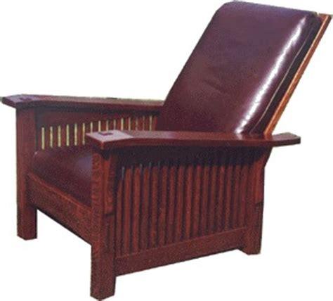 voorhees craftsman mission oak furniture gustav stickley inspired slant arm spindle reclining