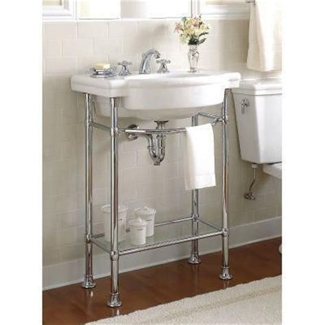 american standard retrospect console table legs in polished chrome pedestal polished chrome