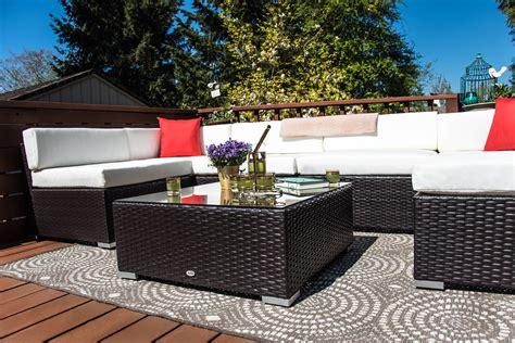 Outsunny Patio Furniture by Outsunny 7 Outdoor Patio Pe Rattan Wicker Sofa