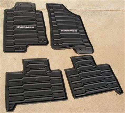 hummer h3 all weather floor mats oem hummer forums enthusiast forum for hummer owners