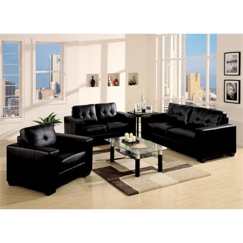 awesome living room ideas black leather sofa greenvirals style
