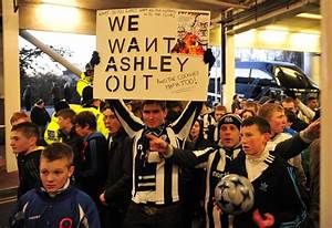 Angry Newcastle Fans Protest Against 'Fat Slug' Mike ...