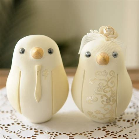 birds oh so sweet wedding cake toppers chic