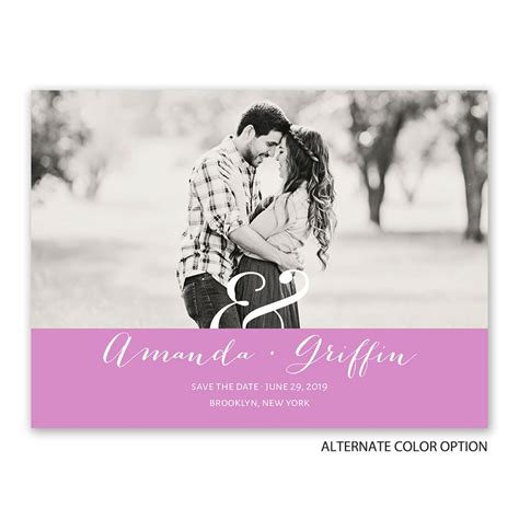 modern style save the date card invitations by