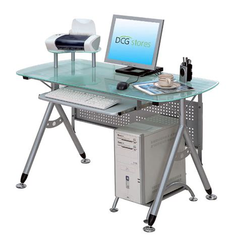 metal and glass computer desk dcg stores