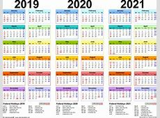 Calendar Year 2019 Philippines With 2020 2021 4 Three