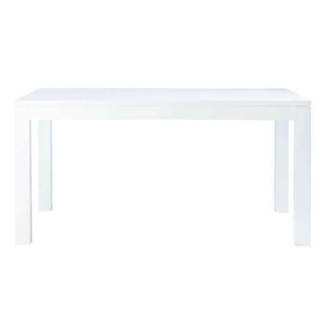 table de salle 224 manger blanc laqu 233 l 160 cm maisons du monde