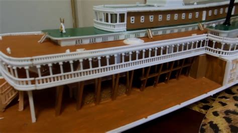 Model Steam Boat Youtube by Amazing Mississippi Steamboat Model Robt E Lee Youtube