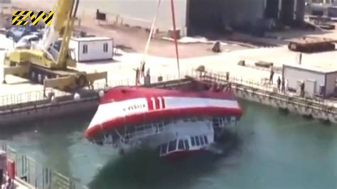 Boat Launch Gone Bad by 10 Ship Launch Gone Wrong Youtube