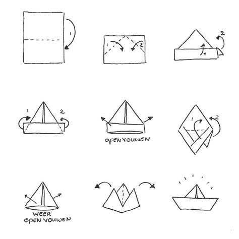 Bootje Vouwen Uit Papier by Bootje Vouwen Oregami Pinterest Origami And Craft