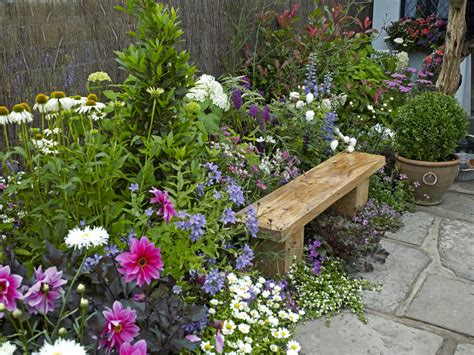 Traditional Thatched Cottage Garden Designed Creat Stock