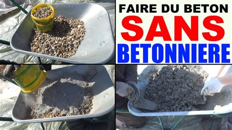 faire du b 233 ton sans b 233 tonni 232 re 224 la brouette mix cement without cement mixer wheelbarrow
