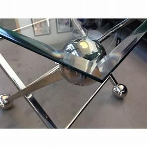 Tisch Glas Metall : beistelltisch glas metall tisch glas verchromt metall h he 57 cm ~ Markanthonyermac.com Haus und Dekorationen