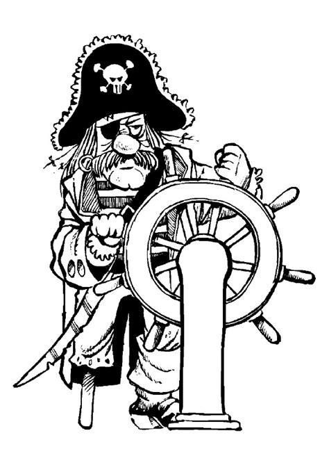 Dessin Animé Bateau Pirate by Coloriage Le Vieux Pirate Sur Son Bateau