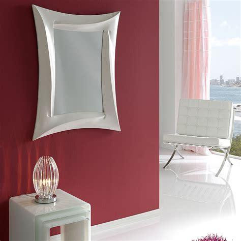 miroir design blanc laque