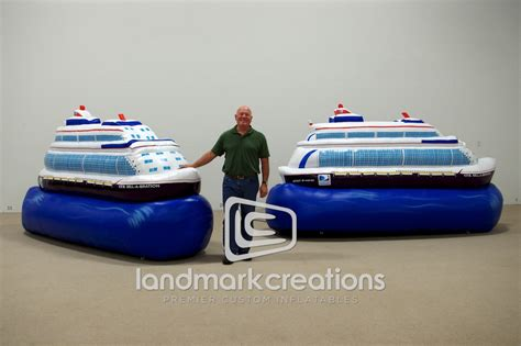Inflatable Boats Houston by Giant Inflatable Boat Replica For The Houston Boat Show