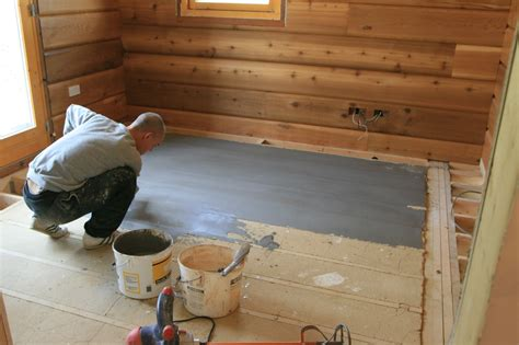 floor leveling in the log house ecologhouse sustainable